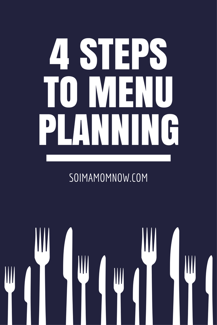 4 steps to menu planning