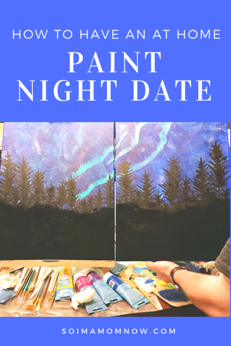 How to have an at home paint night date