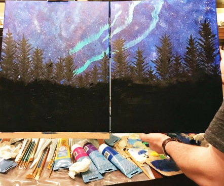 At Home Date: Paint Night